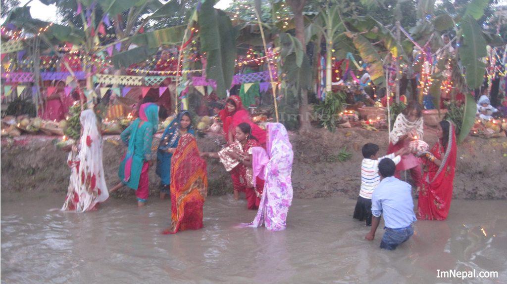 Nepal India Bihar Hindu Chhath Pooja Festival Photos