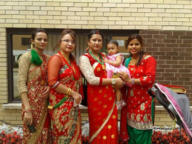 Nepalese women in Teej celebration in USA