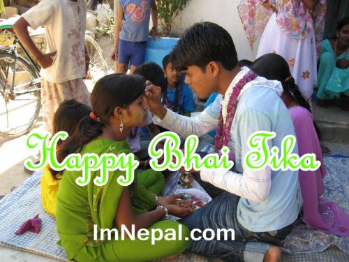 Nepali Bhai Tika Quotes Greeting Cards in English language