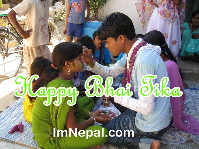 Nepali Bhai Tika Quotes Greeting Cards in English language
