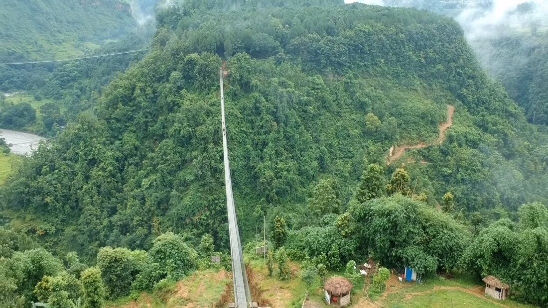 Highest, Tallest, Longest Suspension Bridge in Nepal – Kushma