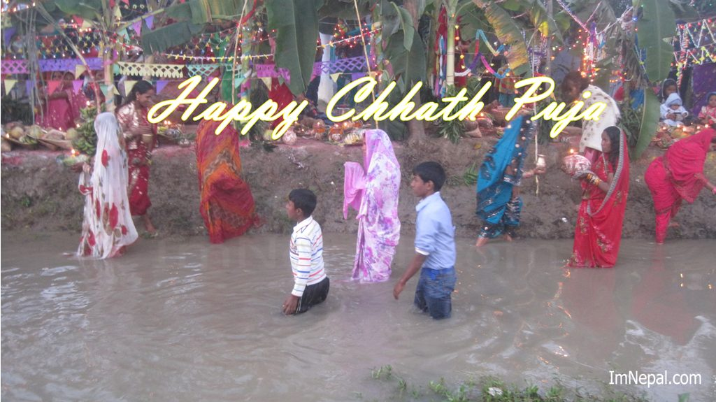beautiful Chhath Puja Live Wallpaper. This is Chhathi maiya wishing Quotes for 2071 BS