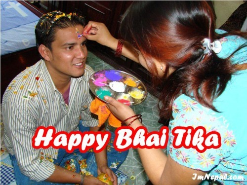 beautiful Happy Bhai Tika Quotes Greeting Cards
