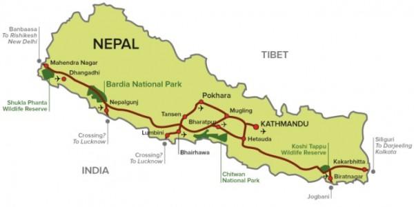mahendra rajmarg of nepal highway map facts