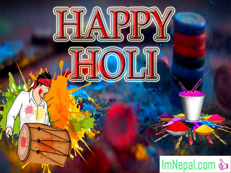 Happy Holi Festivals Hindu Greetings Cards Wishes Images Pictures Messages HD Wallpaper Quotes PHotos Pics