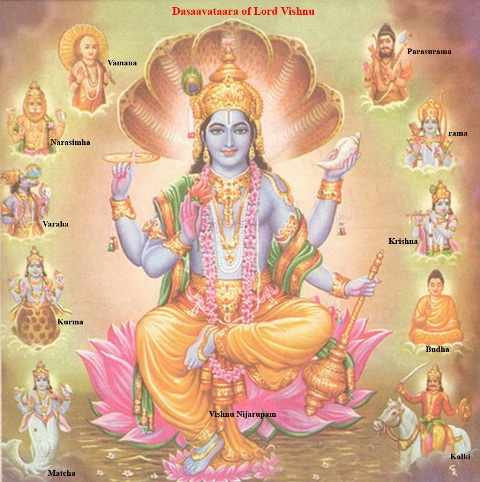 List of 10 Incarnation of Lord Vishnu