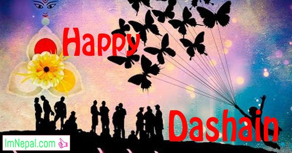 Happy dashain dasai Vijayadashami greeting cards wishes images wallpapers quotes