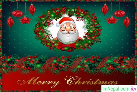 Merry Happy Christmas Greetings Santa Cards HD Photo Wallpapers Wishes Messages Quotes Pictures Images