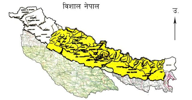 greater Nepal map picture