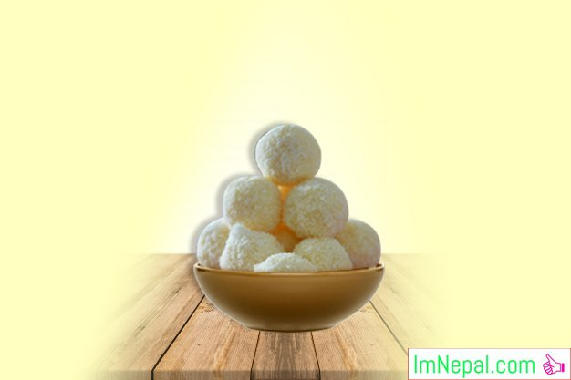 COCONUT LADOO Indian Recipes Dishes Foods