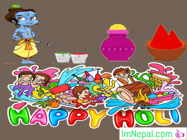 Happy Holi Colorful Festival Hindu Greeting Card Wishes Images Pictures Messages HD Wallpapers Quotes PHotos Pics