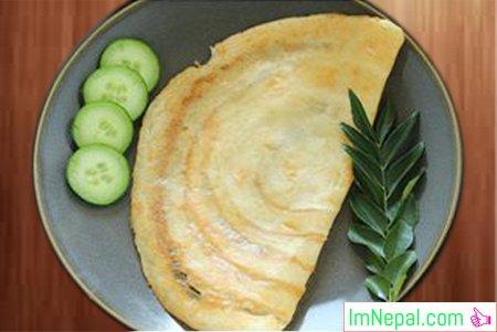 SABUDANA DOSA Indian and Nepali Recipes Dish Foods