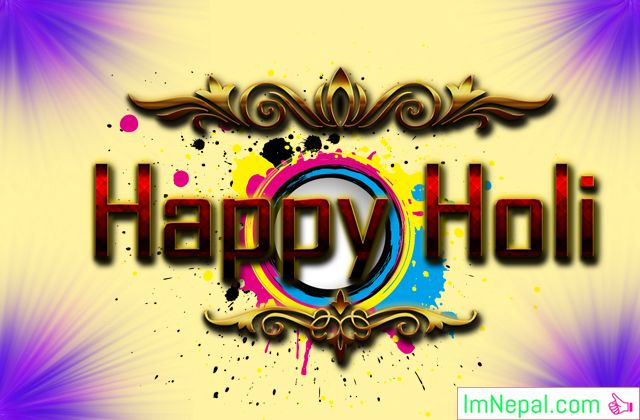 Happy Holi Festival Hindu Greetings Cards Wishes Images Pictures Messages HD Wallpaper Quotes PHotos Pics
