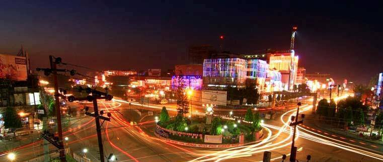 Itahari, Nepal City Town night