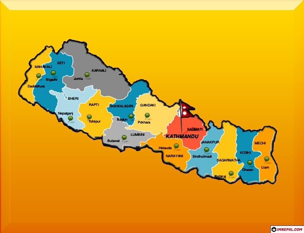 Image of Nepal Map