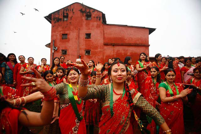 Nepali Teej Songs dancing women Pictures