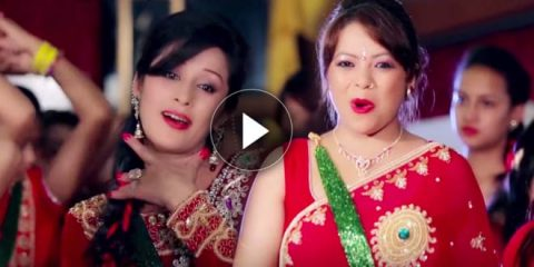 Nepali actress Melina Manadhar teej songs pictures