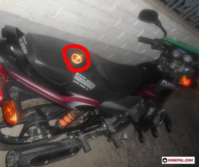 Diya Flaming on Motorbike