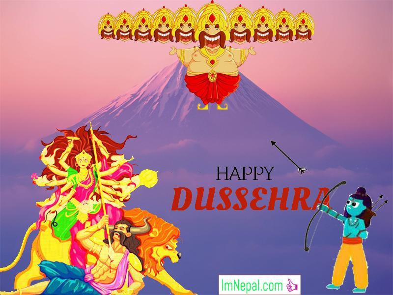 Happy Dussehra Dasara Dashara Greeting Cards Wishe Quotes Images Navratri English Hindi Durga Mata God Ram HD Wallpapers