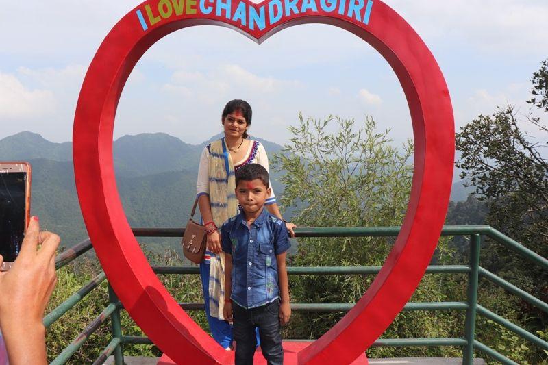 I Love Chandragiri Hills Station Kathmandu Nepal Cable car places Travel Visit Outing Destination Pic