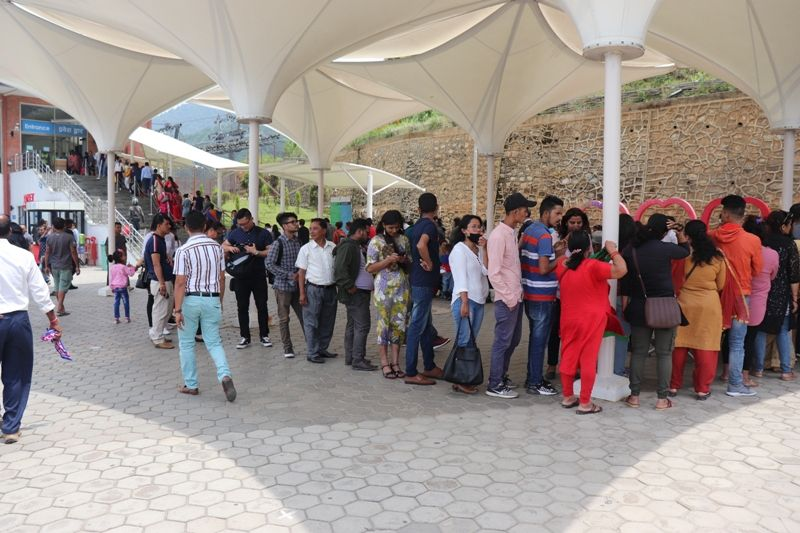 Visitors in Queue Chandragiri Hills Station Kathmandu Nepal Cable car places Travel Outing Destination Pictures