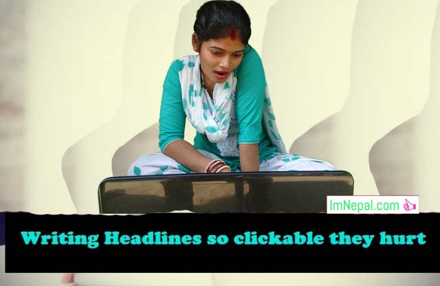 Clickable Headlines a woman watching movie in laptap using computer image