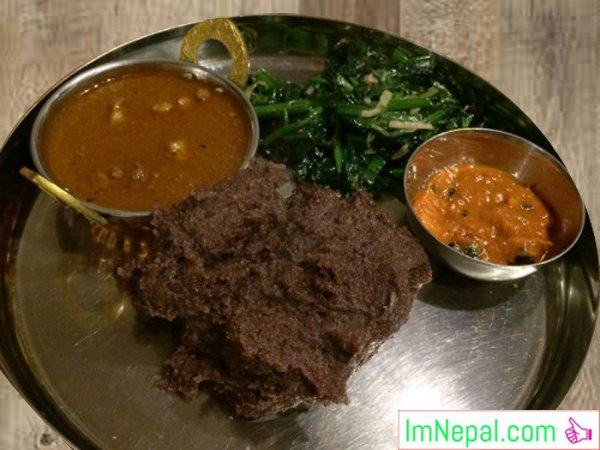 Dhido Gundruk Nepali typical recipes dishes