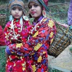 Nepalese cultural dress mother daughter
