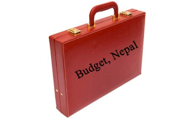 budget briefcase of Nepal