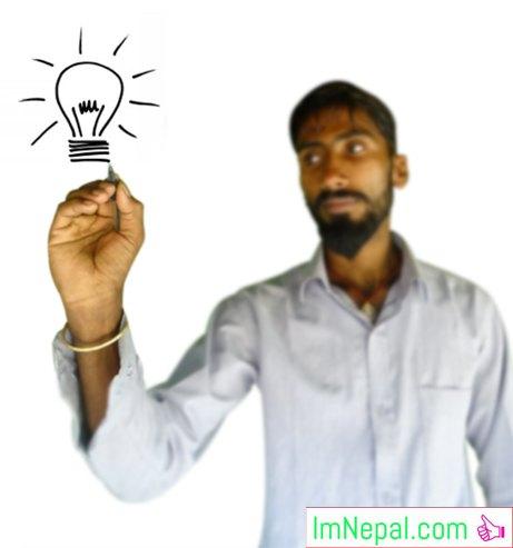smarter creative way bulb boy