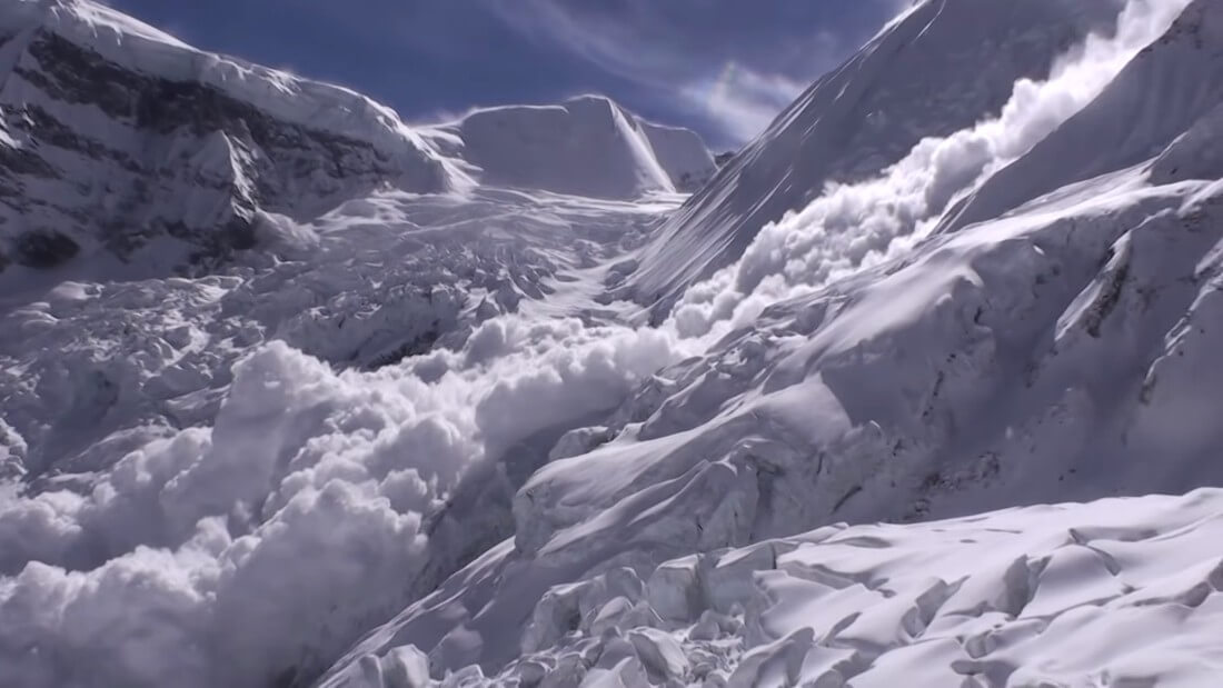 Avalanche on Mount Annapurna, Nepal