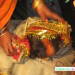 Bride's Sindoor after marriage bibah ceromoney Madhesh Terai Mithila Nepal