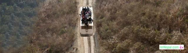 Transportation road Bus hilly region Nepal