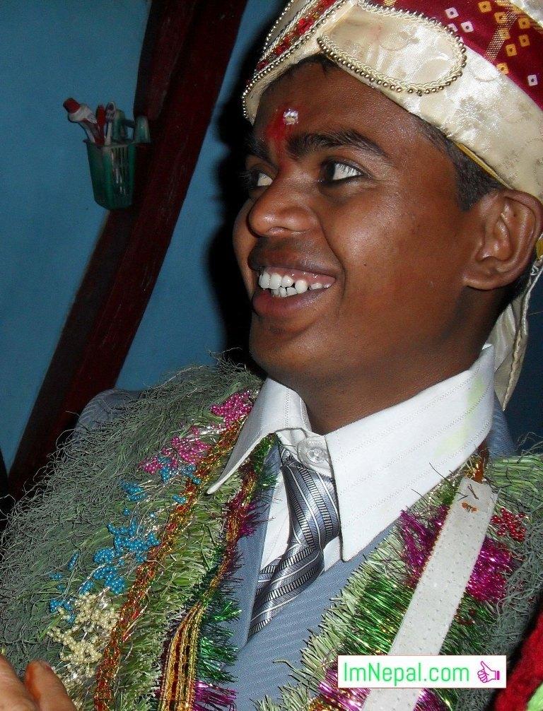 a happy bridegroom smile picture