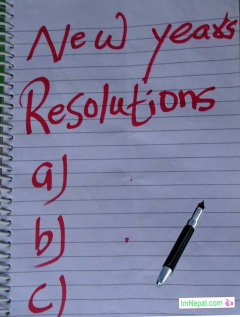 Happy New year resolutions