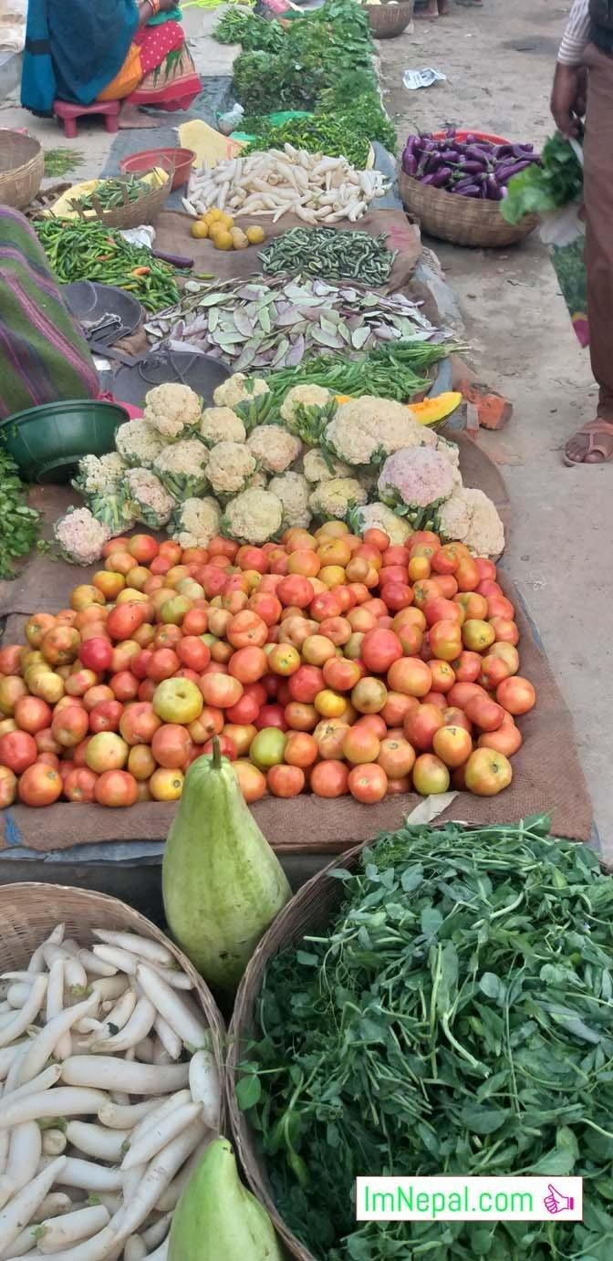 Street shop vegetables in Madhesh Nepal copy