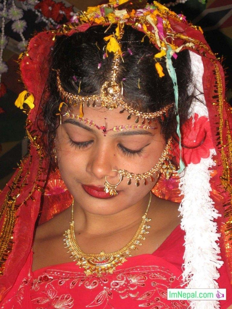 a beautiful bride in swayambar marriage bibah Madhesh Terai Mithila Nepal
