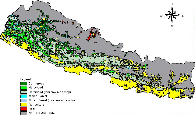 forest map of Nepal