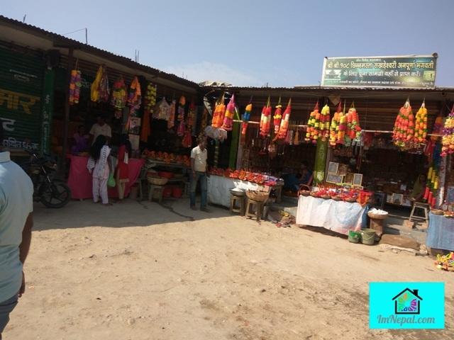 shops in Chinnamasta Bhagawati Sakhra Temple, Saptari, Nepal