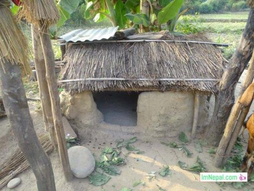 a Nepali home for women during period time