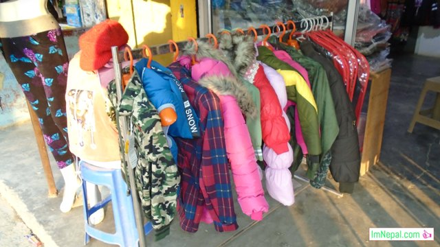 winter clothes shop in Nepal