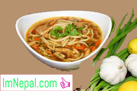 thukpa soup recipes Nepai dish