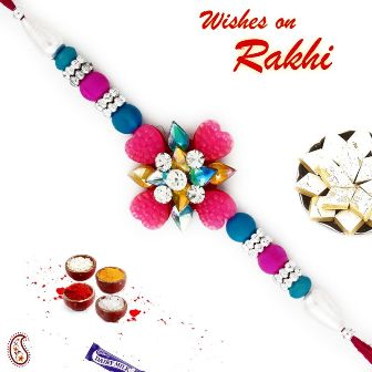 Floral-shaped Rakhi