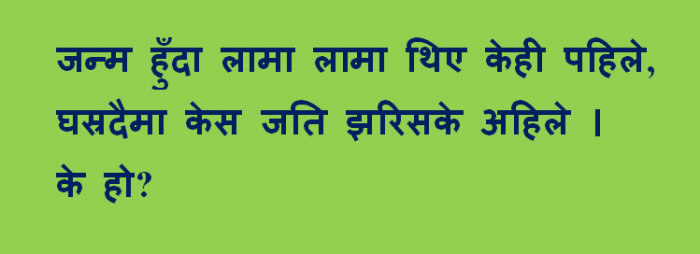 Nepali tricky puzzles Images