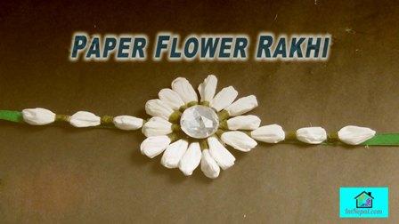Paper flower Rakhi