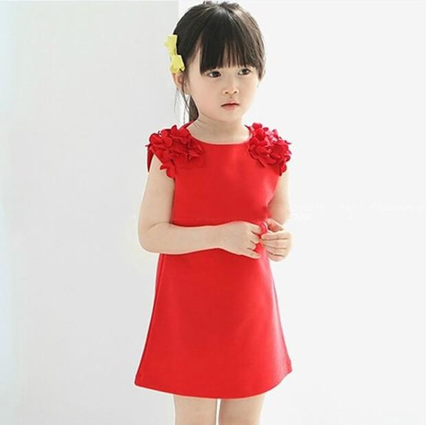A shape dress girls