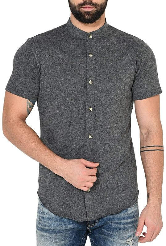 Cotton Half Sleeve Shirt Men Dress
