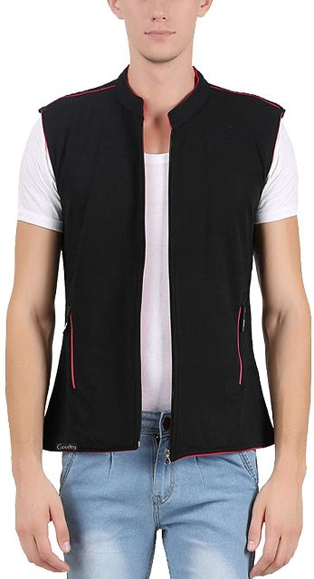 Cotton Reversible Sleeveless Blazer man dress