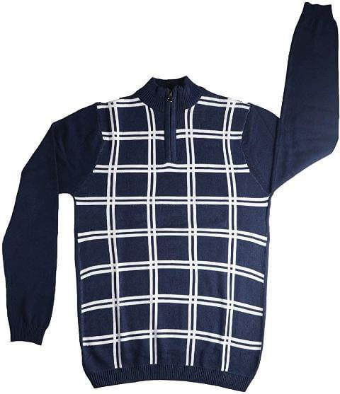 Denim Checkered Print Full T-Shirt Teenagers Boys Dress