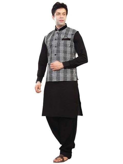Designer waist coat Nehru Jacket over kurta and matching churidhar